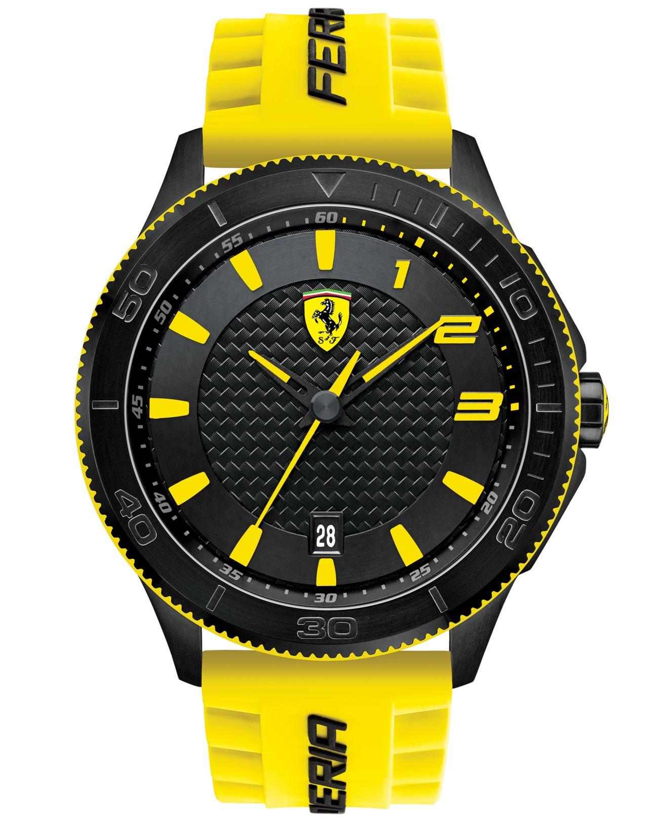 Lyst Scuderia Ferrari Men S Scuderia Yellow Silicone