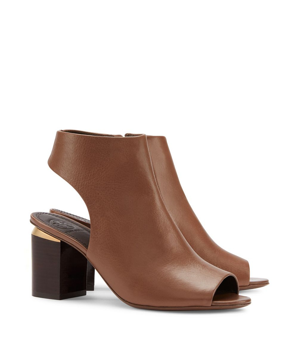 e5775c6d8d88 Lyst - Tory Burch Jones Cut-out Bootie in Brown