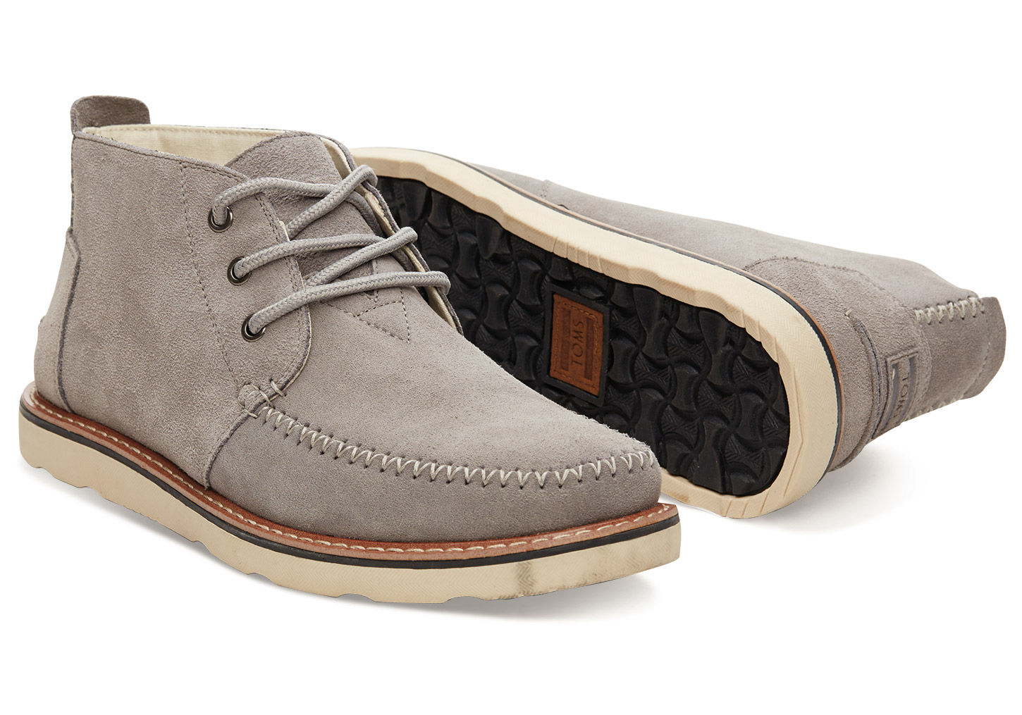 Lyst Toms Paloma Suede Men S Chukka Boots In Gray For Men
