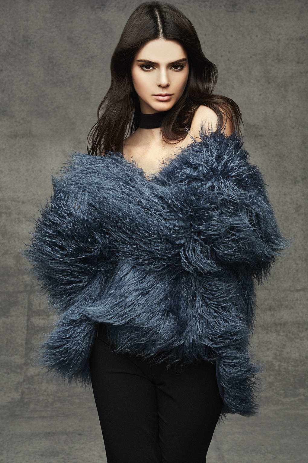 Topshop Mongolian Faux Fur Coat By Kendall   Kylie At in Blue | Lyst