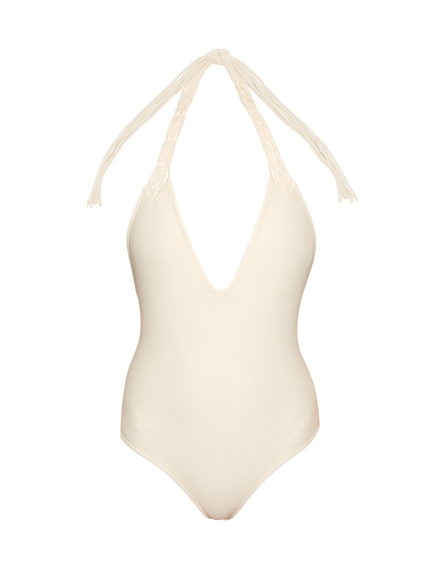 Mikoh Swimwear Topanga V Neck Swimsuit In White Lyst