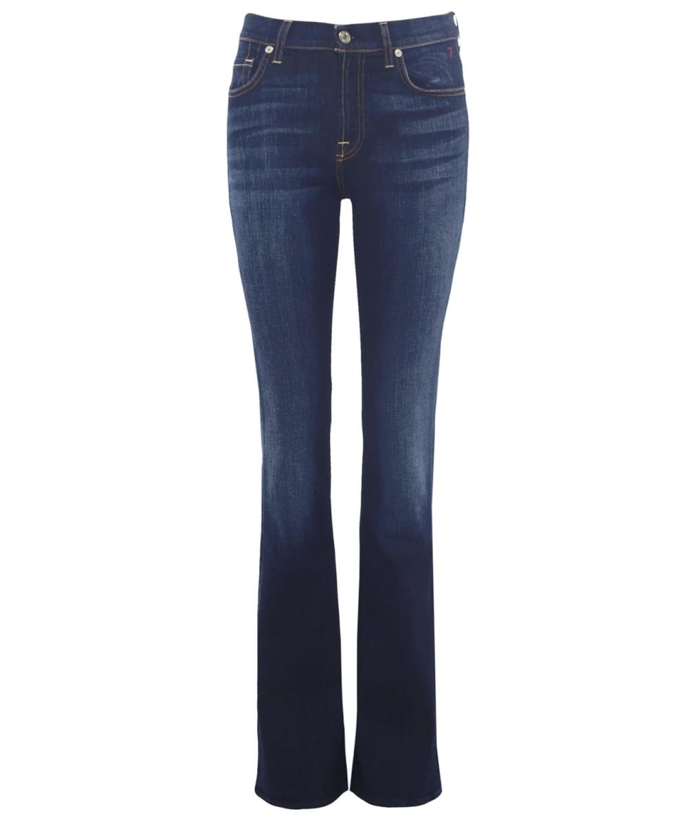 7 for all mankind iconic bootcut jeans in blue navy. Black Bedroom Furniture Sets. Home Design Ideas