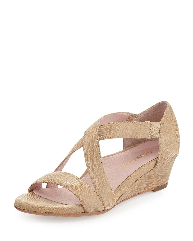 a0fa3012e9f86e Lyst - Taryn Rose Saraia Crisscross Sandals in Natural