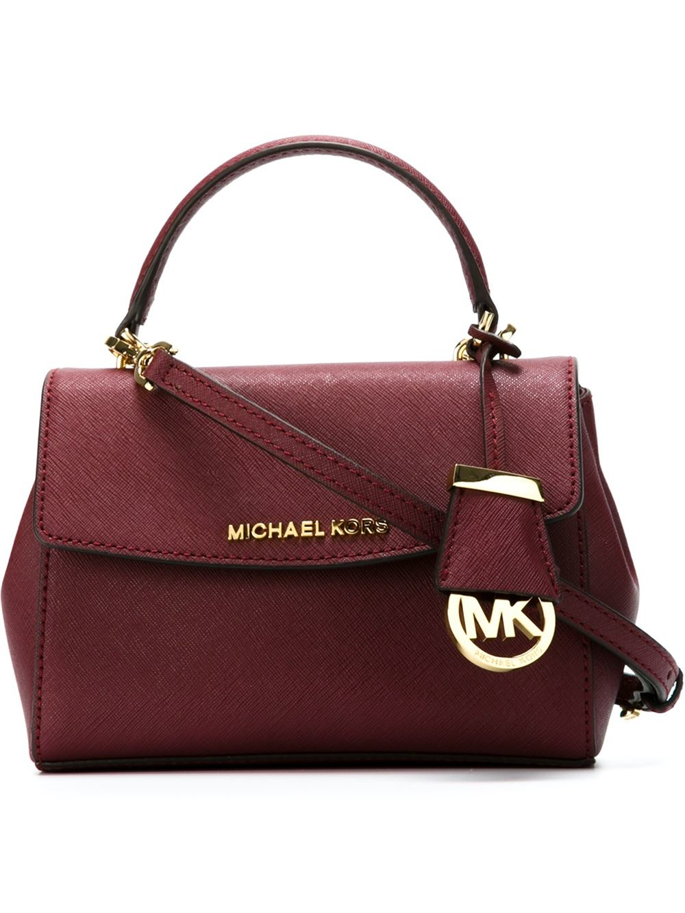 8c116708f607 ... sweden lyst michael michael kors ava extra small cross body bag in red  c4f76 792e5