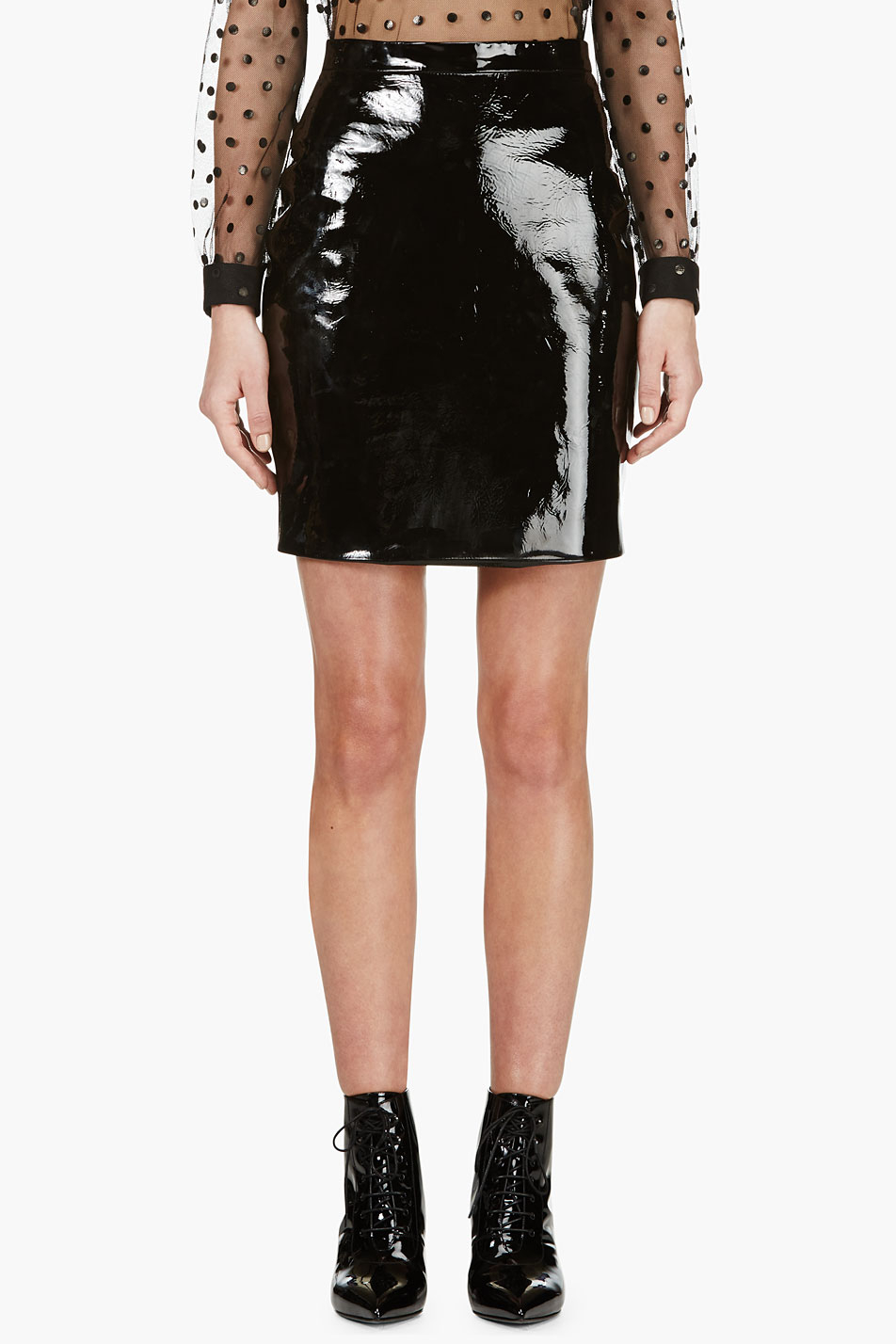 Gallery. Previously sold at: SSENSE · Women's Leather Mini Skirts Women's Black  Leather Skirts