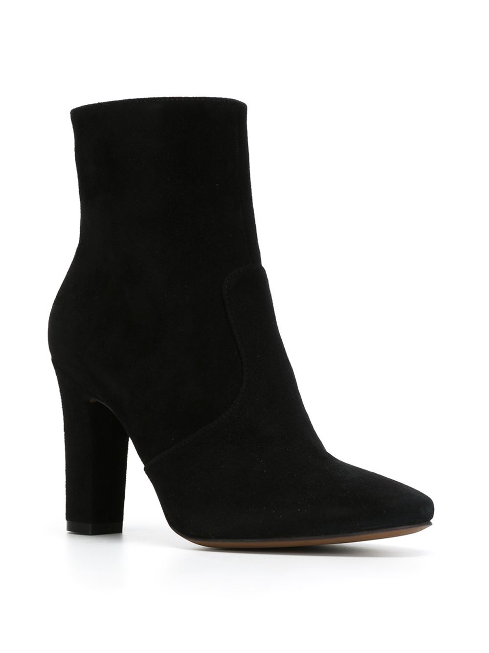 l autre chose chunky heel ankle boots in black lyst