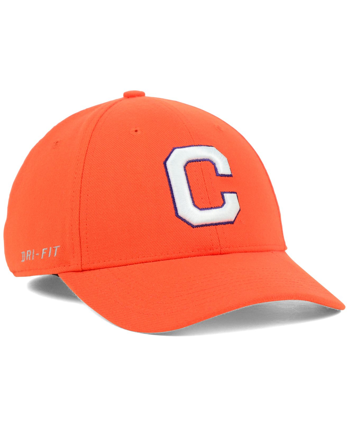 97dec922e7a ... get lyst nike clemson tigers dri fit swooshflex cap in orange for men  33ea7 4562c