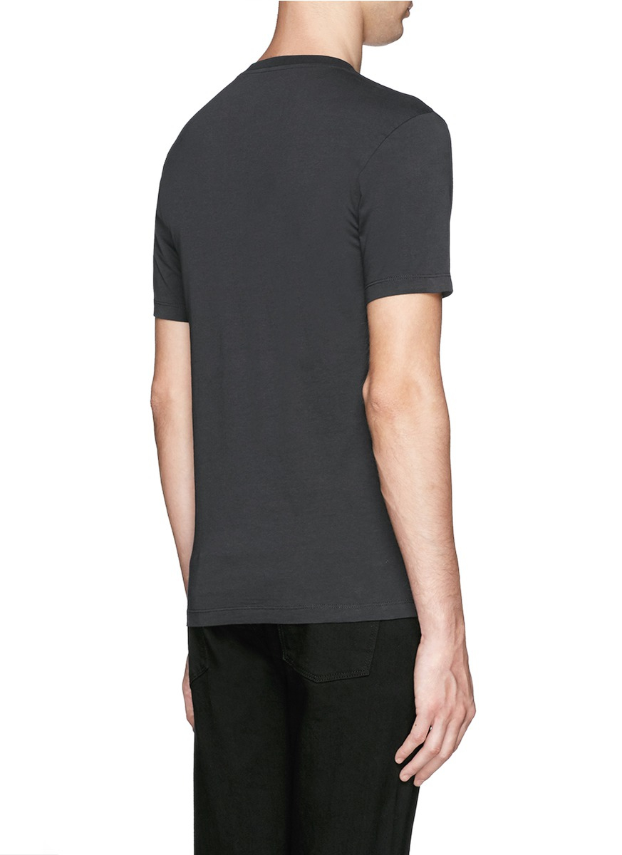 Paul smith moon skull print organic cotton t shirt in for Organic cotton t shirt printing