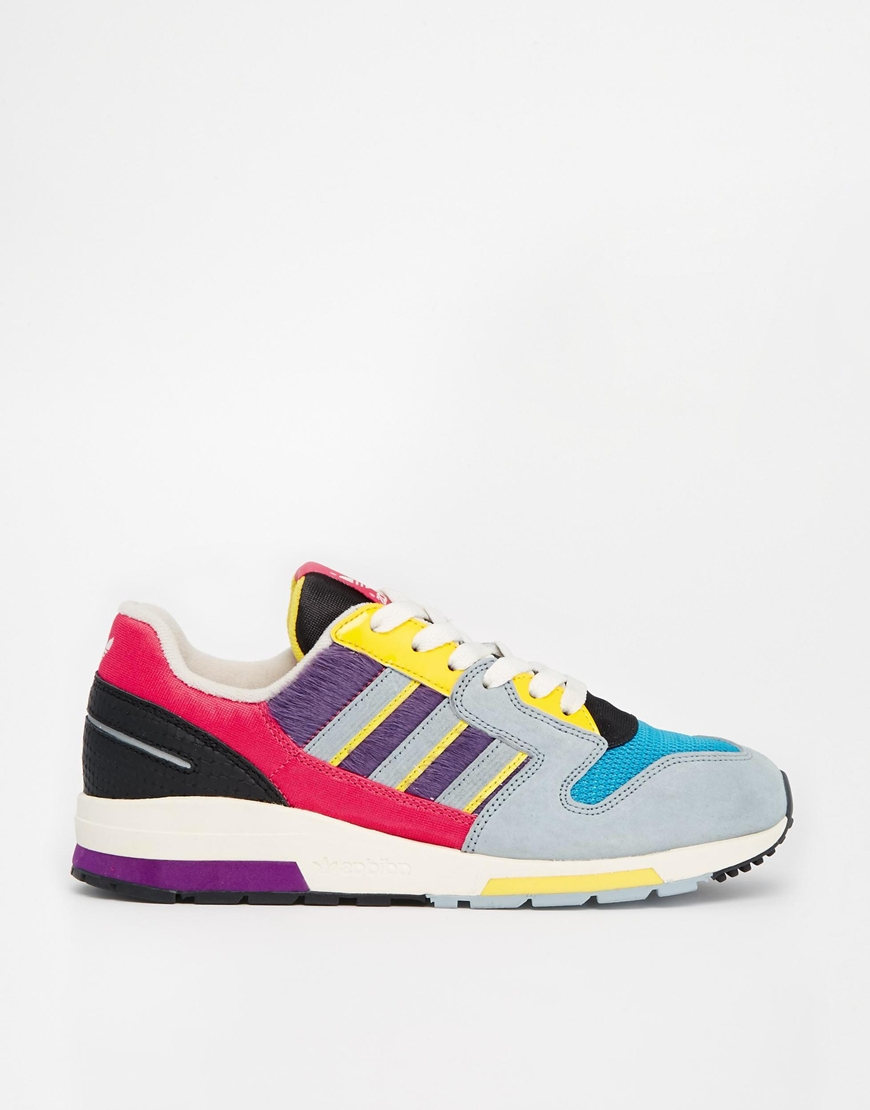 adidas multi coloured trainers