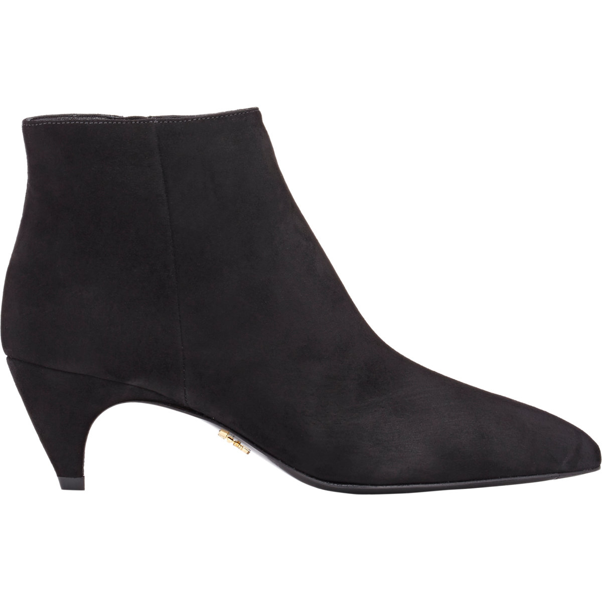 Womens Curved-Heel Suede Ankle Boots Prada eI2Xsc