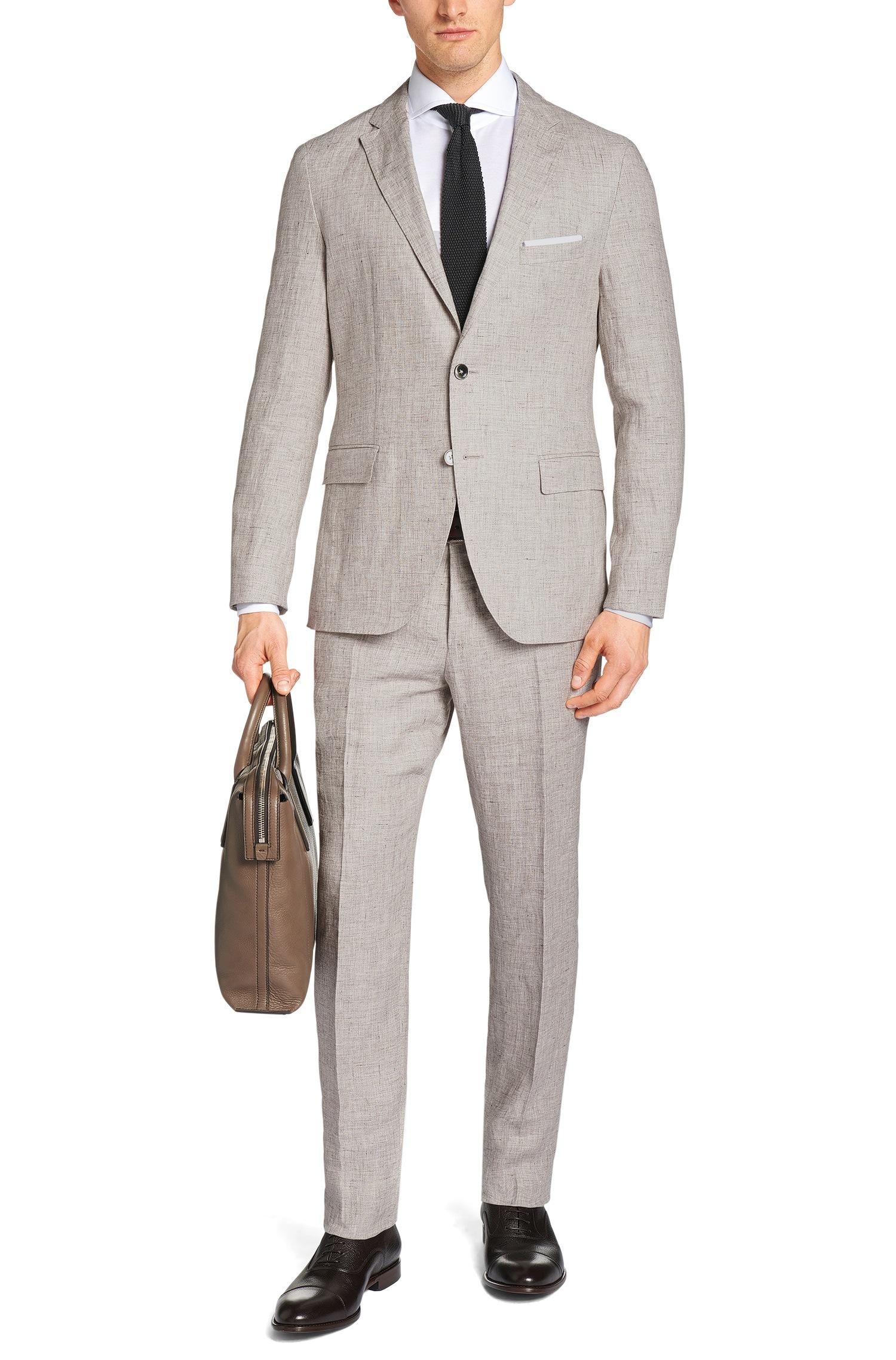 be97e47d BOSS 't-norten/bexter'   Slim Fit, Italian Linen Suit in Natural for ...
