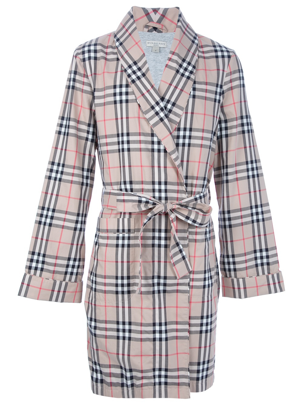 Lyst - Burberry Brit Checked Dressing Gown in Natural for Men