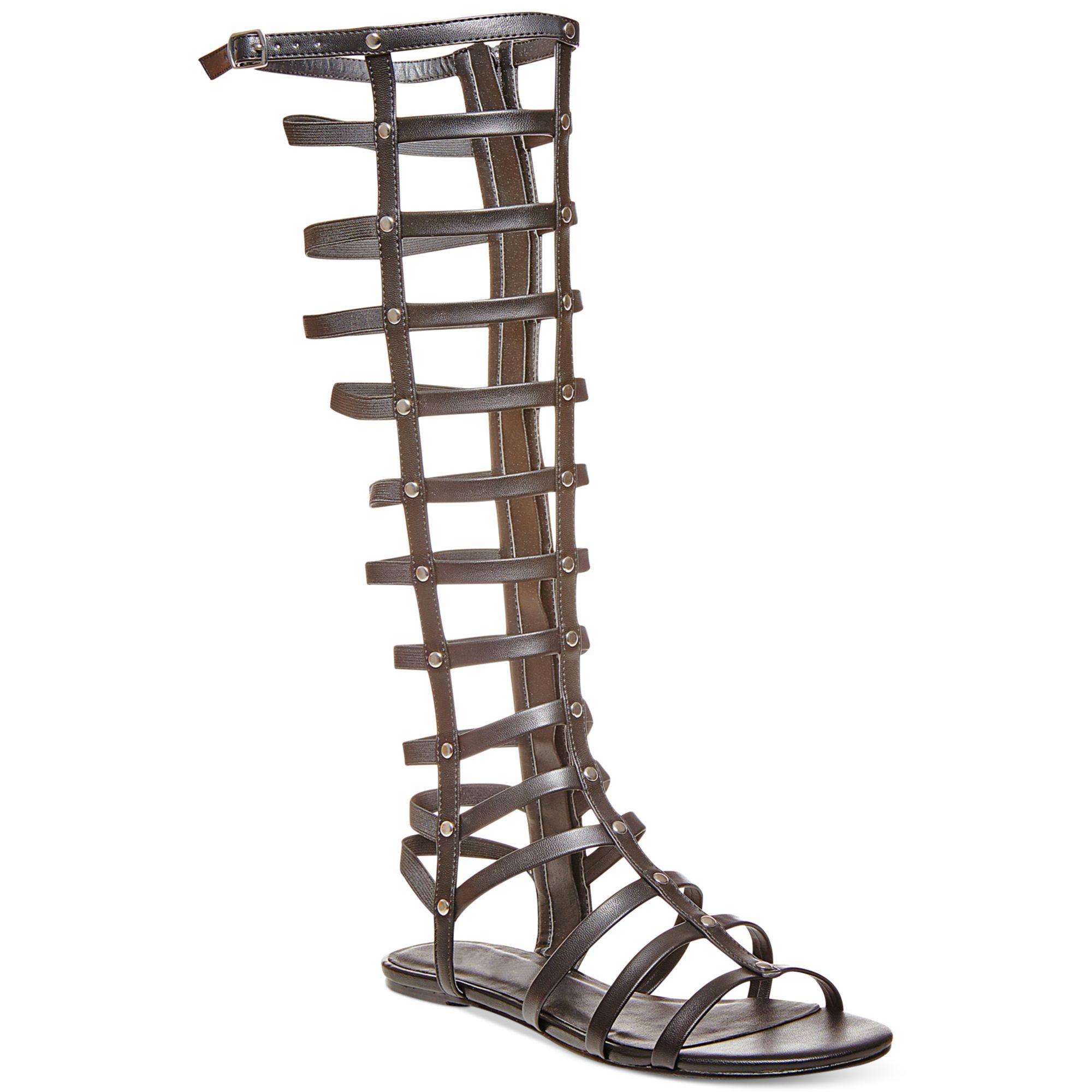 Madden Girl Amily Tall Shaft Gladiator Sandals In Black Lyst