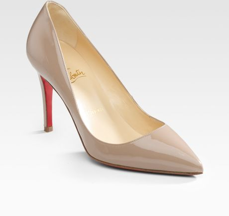 Christian Louboutin Pigalle 85 Patent Pumps in Black