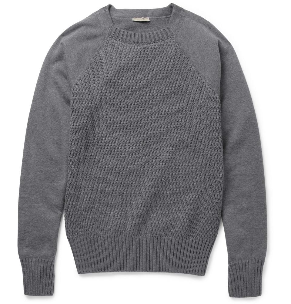 9d5e2bbe15e6 Lyst - Bottega Veneta Contrast-Front Cotton-Blend Sweater .