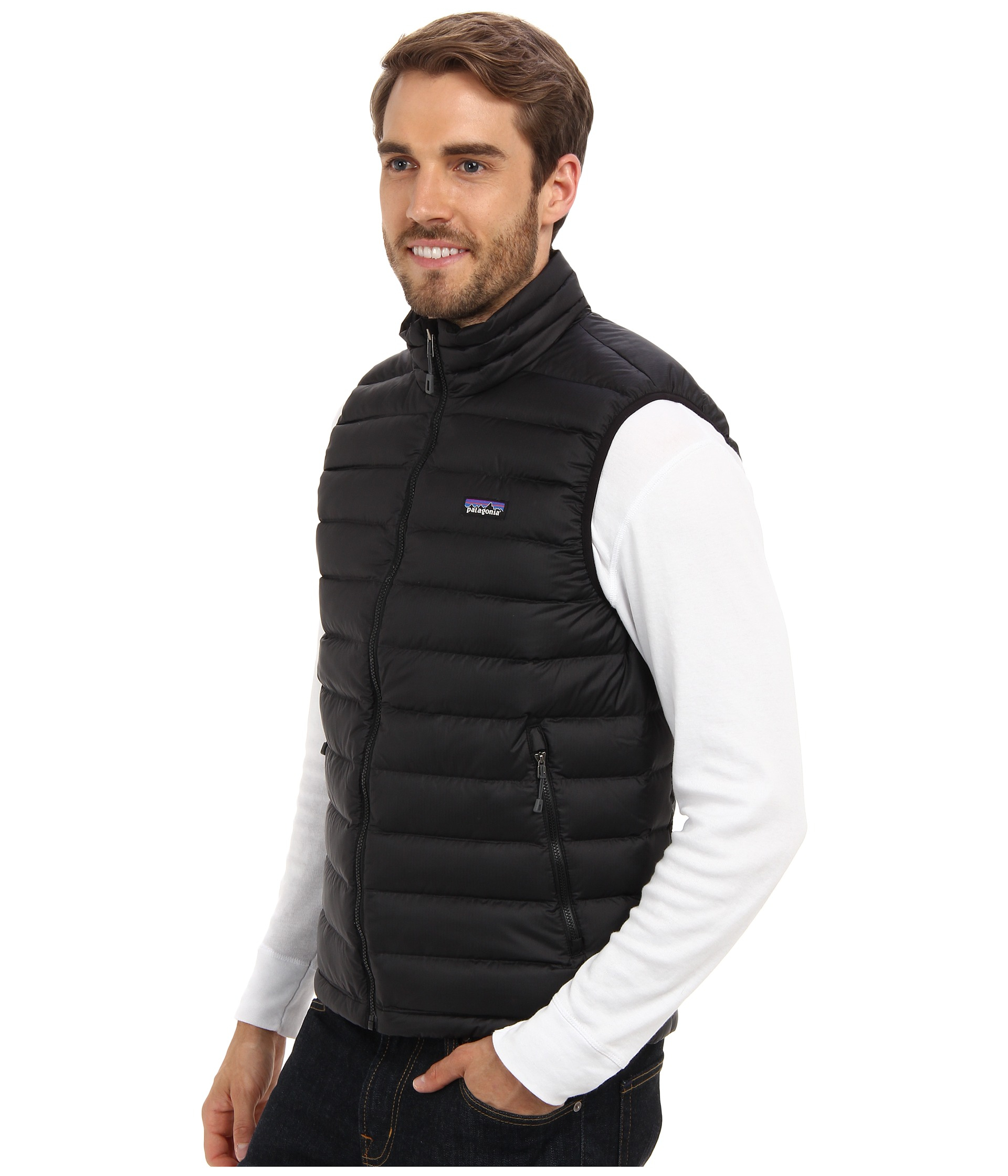 Patagonia Down Sweater Vest in Black for Men | Lyst