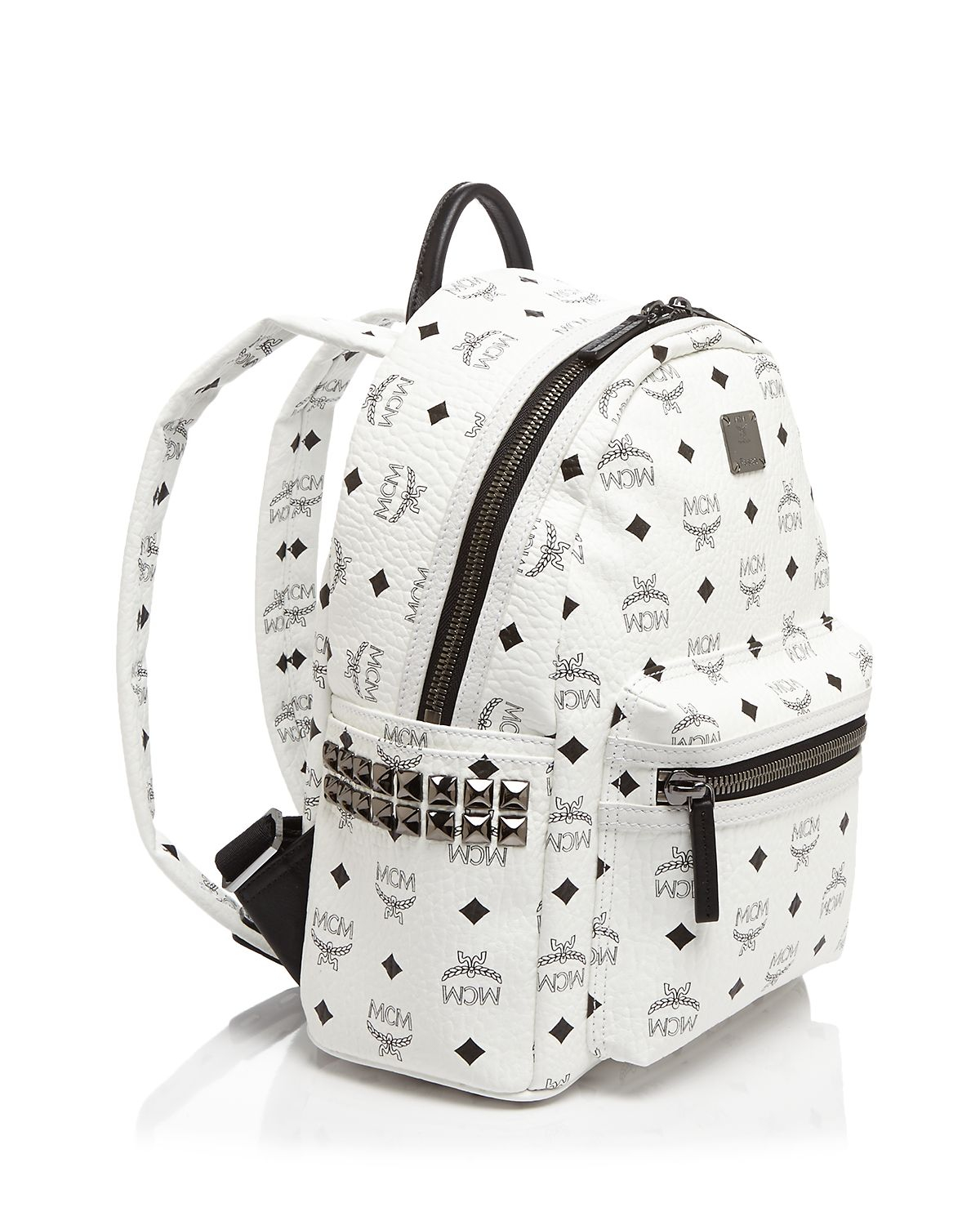b9ac2ecf340 Lyst - MCM Backpack - Stark Side Stud Small in Pink