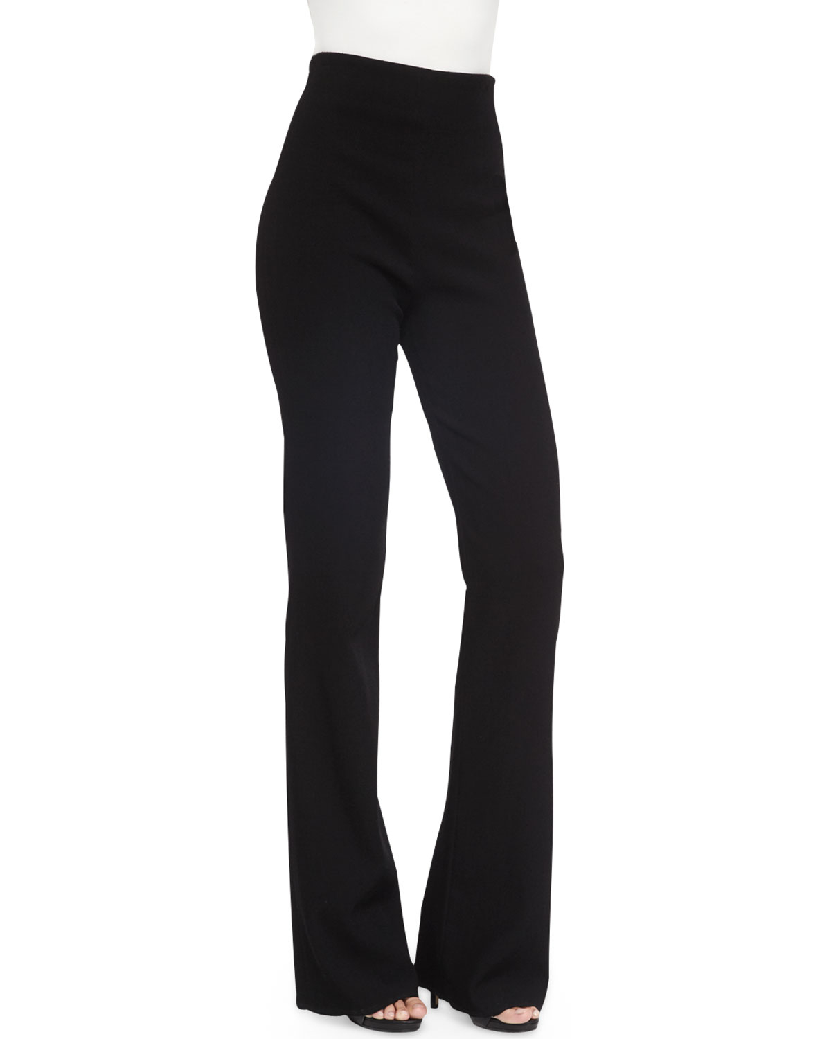 Donna karan High-waist Straight-leg Pants in Black | Lyst