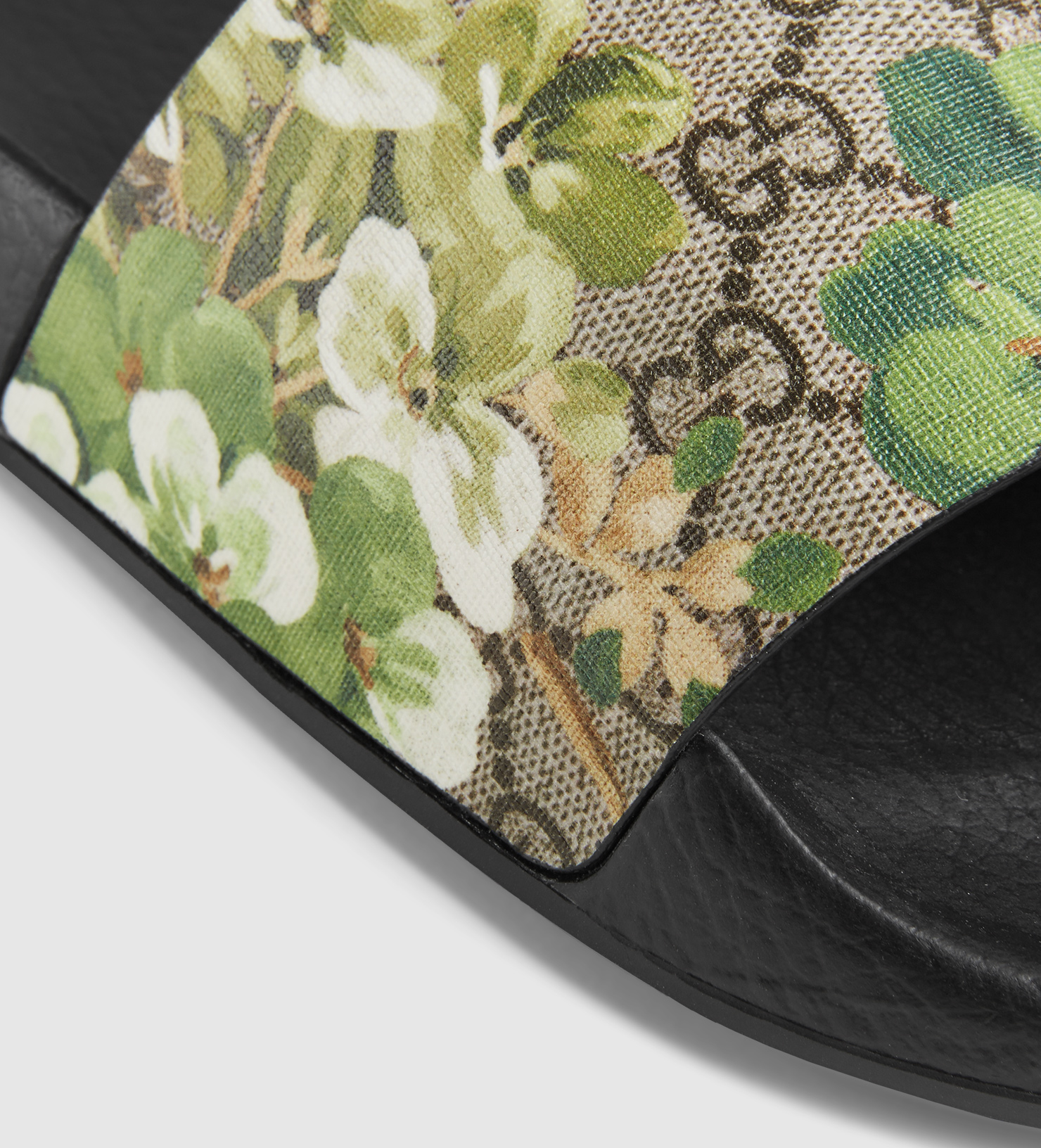 84775ad8f40d Lyst - Gucci Blooms Print Sandal in Green for Men