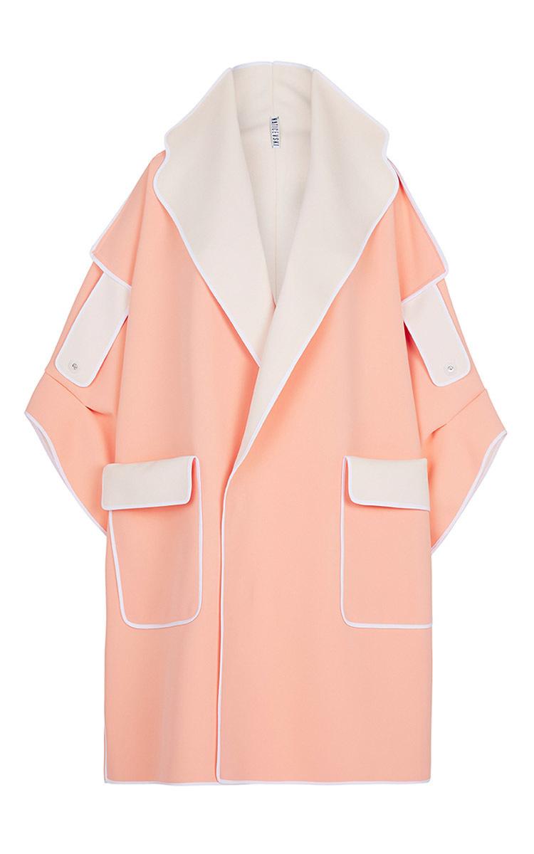 Pink overcoat