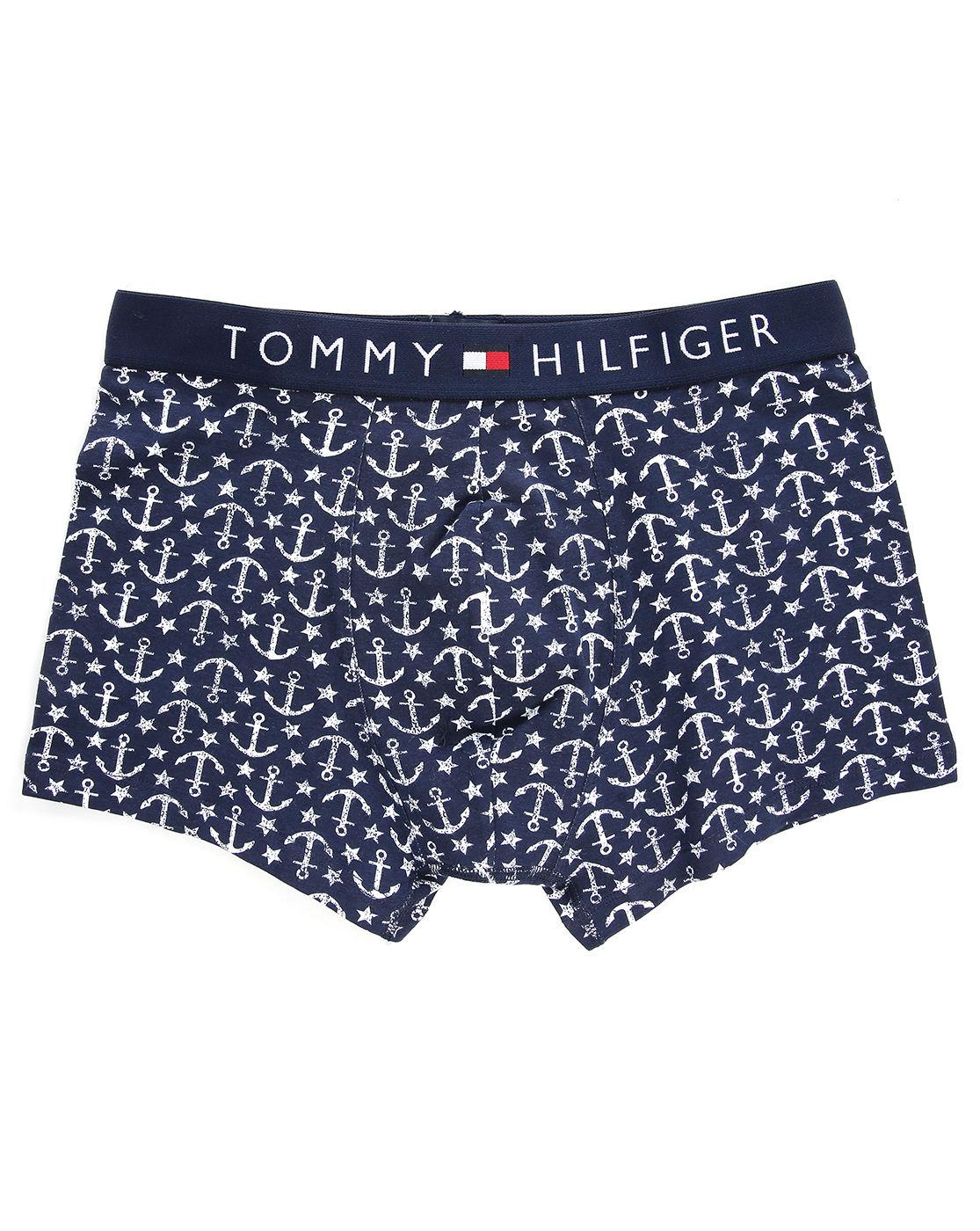 tommy hilfiger navy ink print boxer shorts in blue for men navy lyst. Black Bedroom Furniture Sets. Home Design Ideas