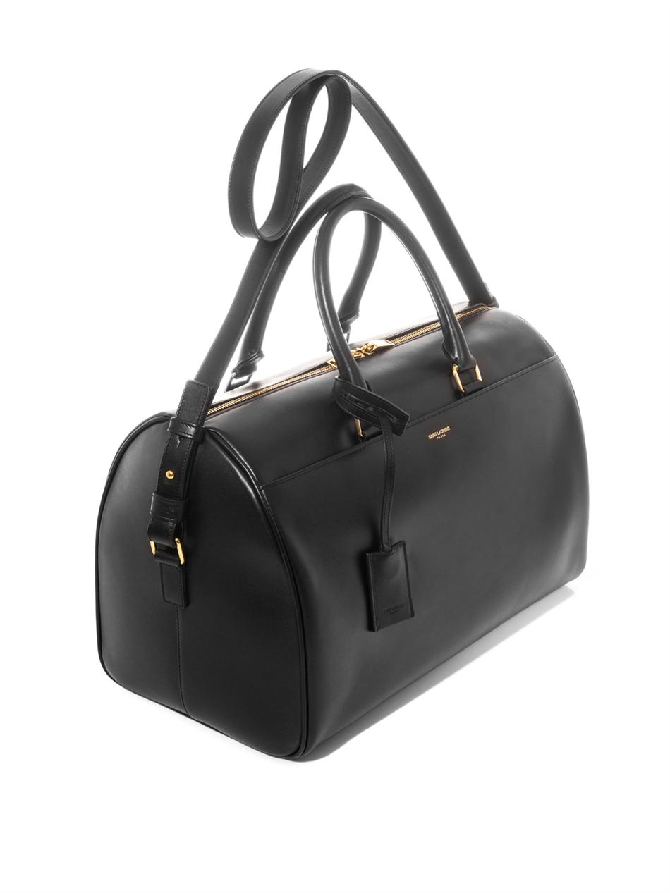 ysl mens messenger bag - Saint laurent Classic Duffle 12 Leather Bag in Black | Lyst