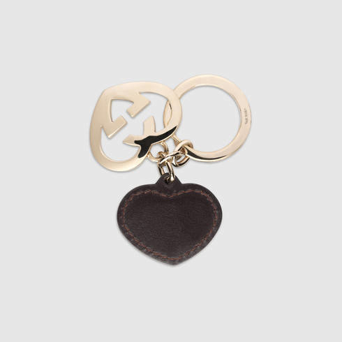 5a8d4f22f33 Lyst - Gucci Heart Key Ring in Brown