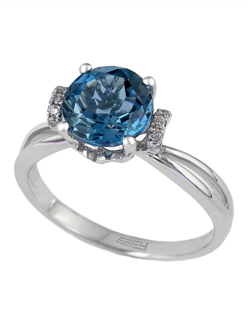 Effy London Blue Topaz Ring
