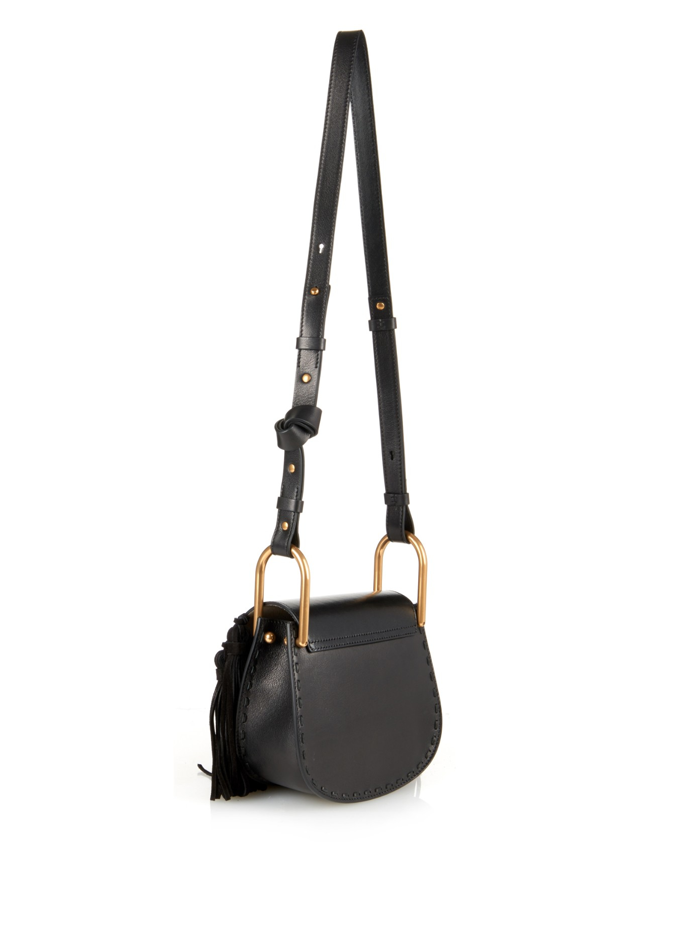 Chlo�� Hudson Mini Cross-Body Bag in Black | Lyst