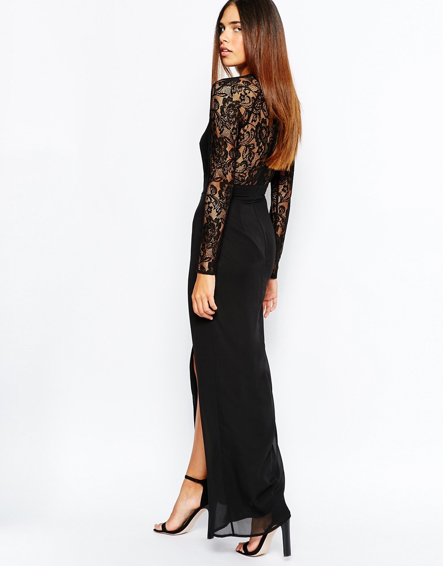 deep v thigh split maxi dress