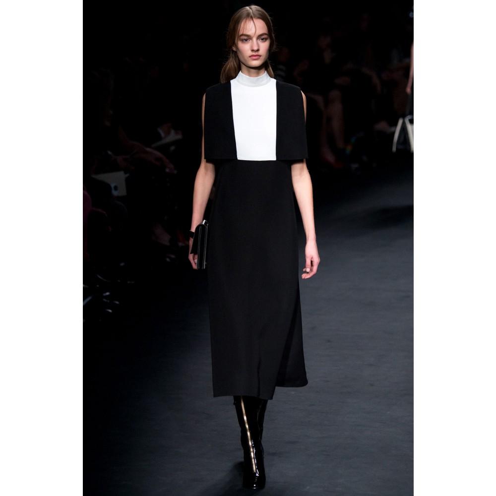 lyst valentino wool midi skirt in black