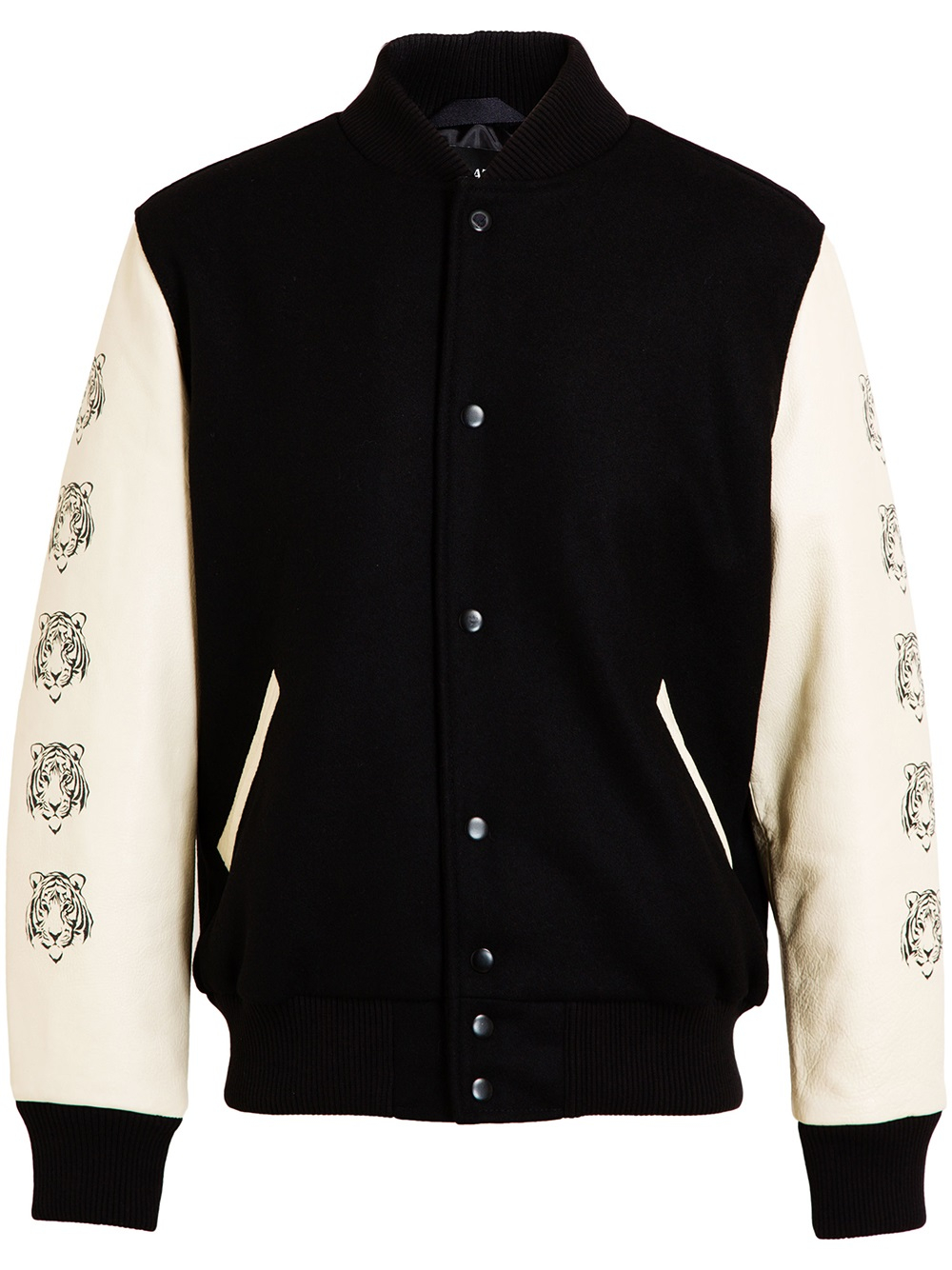 Love leather Tiger Printed Baseball Jacket in Black | Lyst