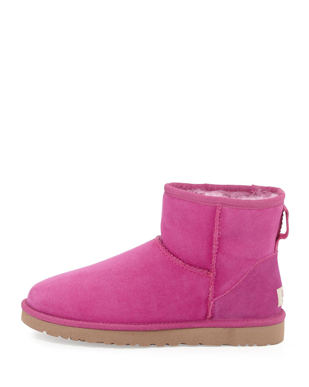 ugg womens classic mini boots pink