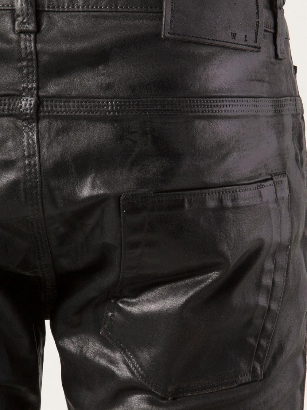 Diesel black gold Coated Skinny Jeans in Black for Men | Lyst