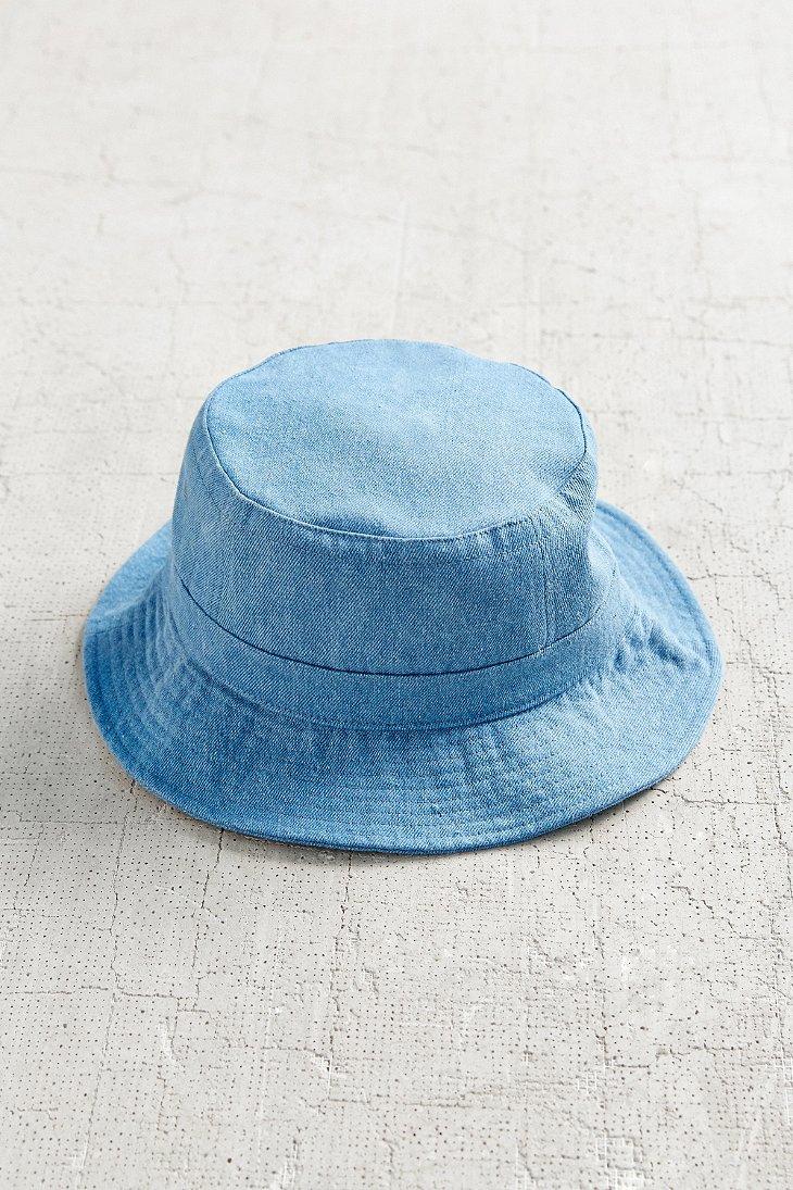 Lyst - Urban Outfitters Denim Bucket Hat in Blue 1e1da9d975c