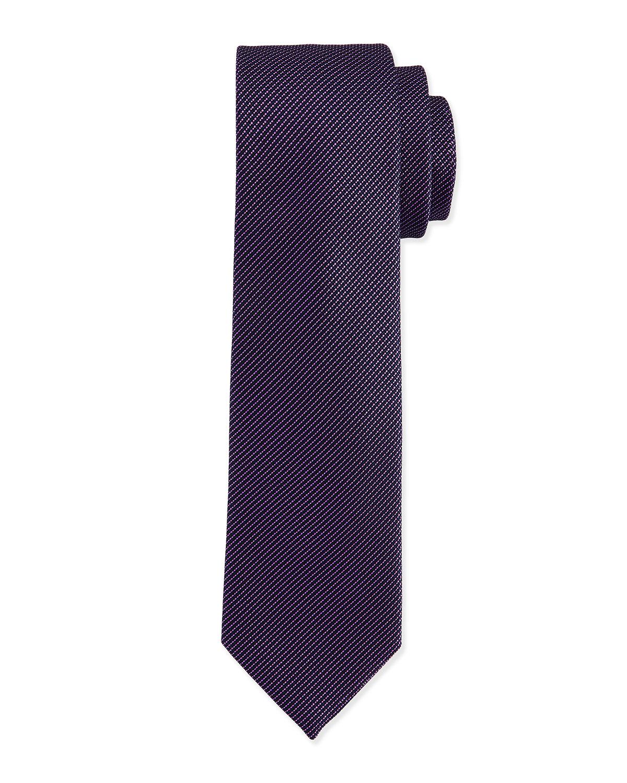 charvet textured hairline stripe silk tie in blue for