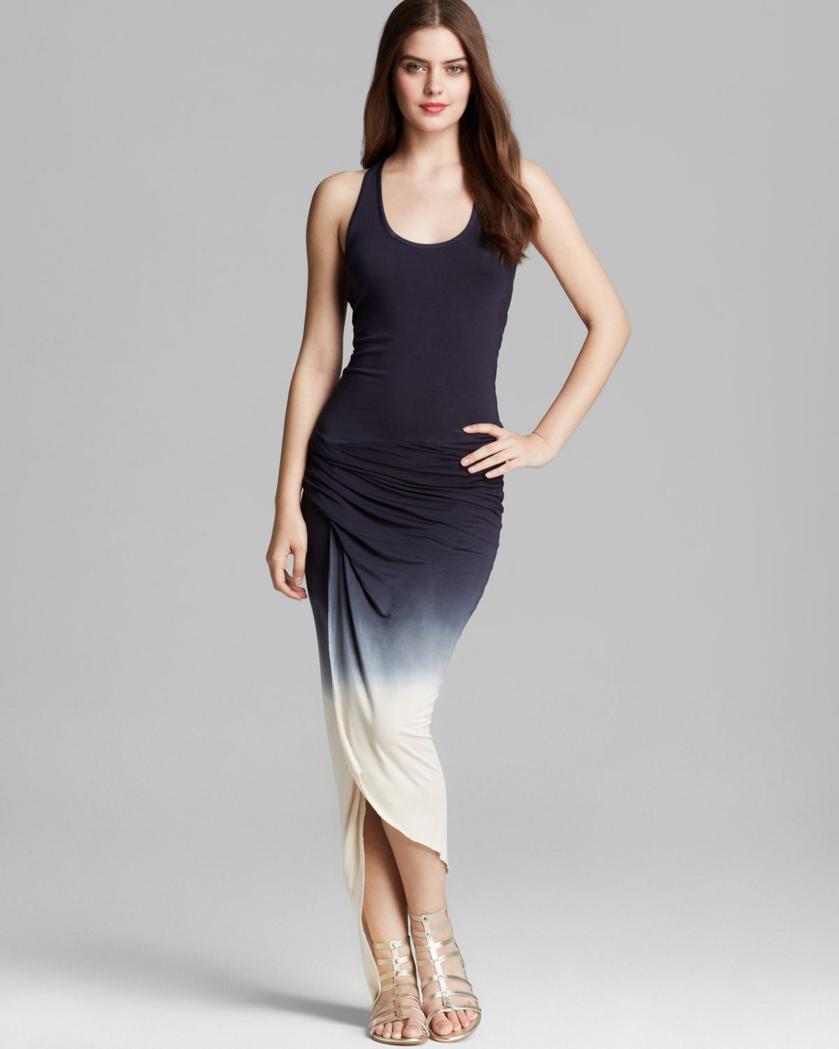 Lyst Young Fabulous Amp Broke Maxi Dress Jaxon Ombre In Blue