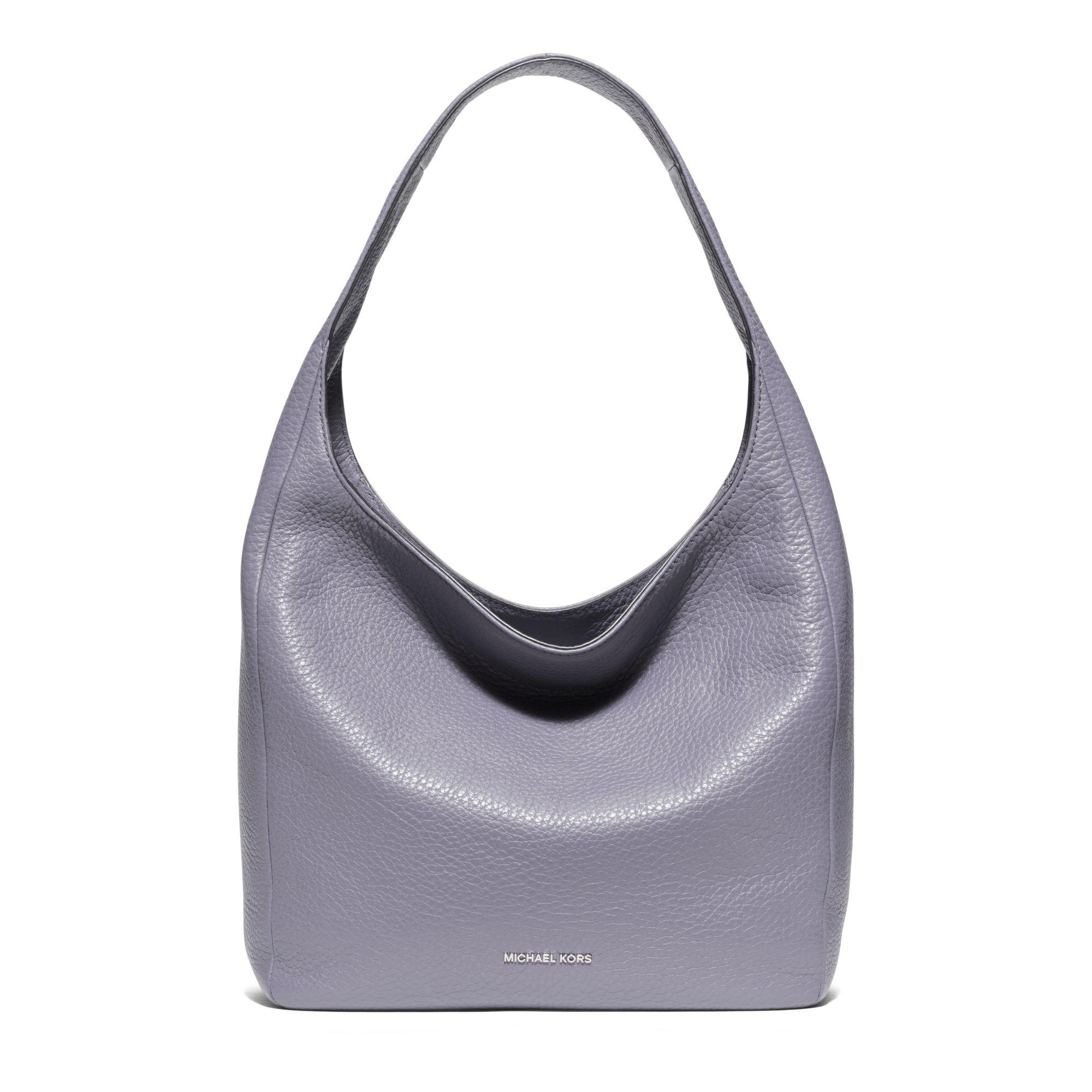 613f87d8e15d Lyst - Michael Kors Lena Large Leather Shoulder Bag in Gray