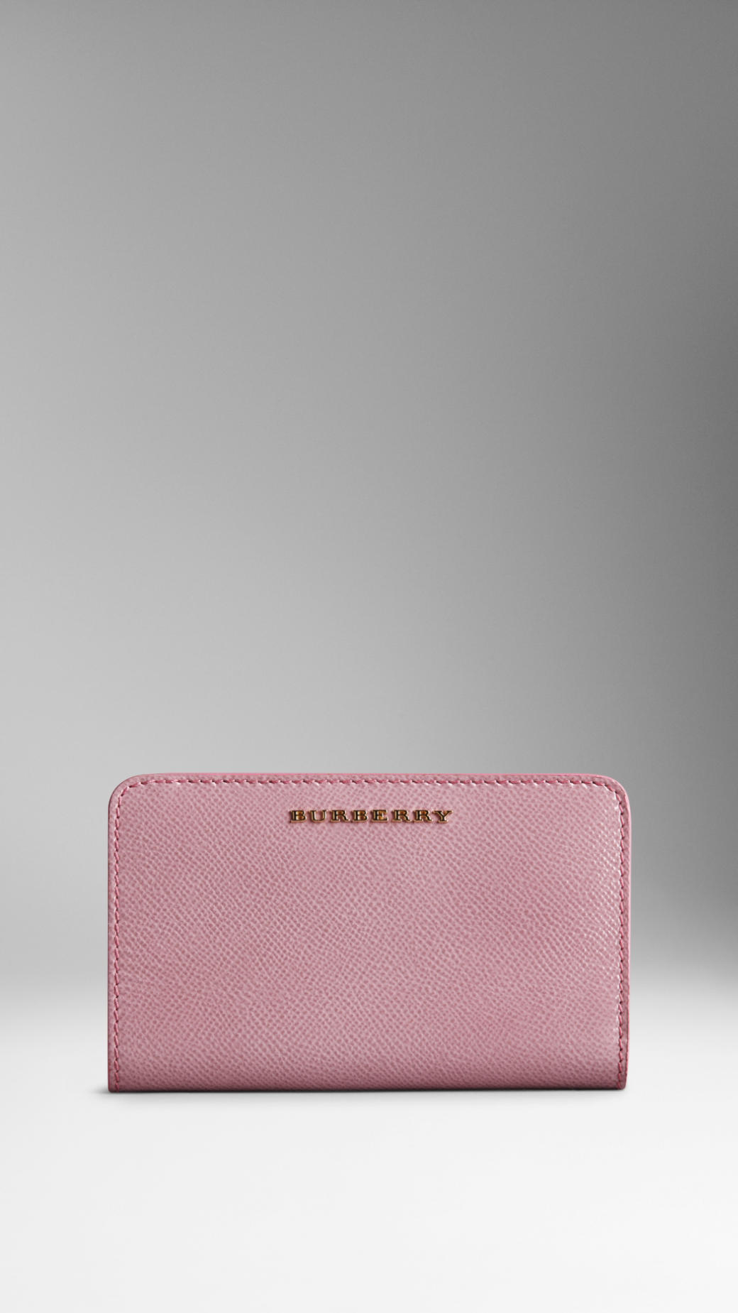 574ae33ea1b3 Burberry Patent London Leather Continental Wallet in Pink - Lyst