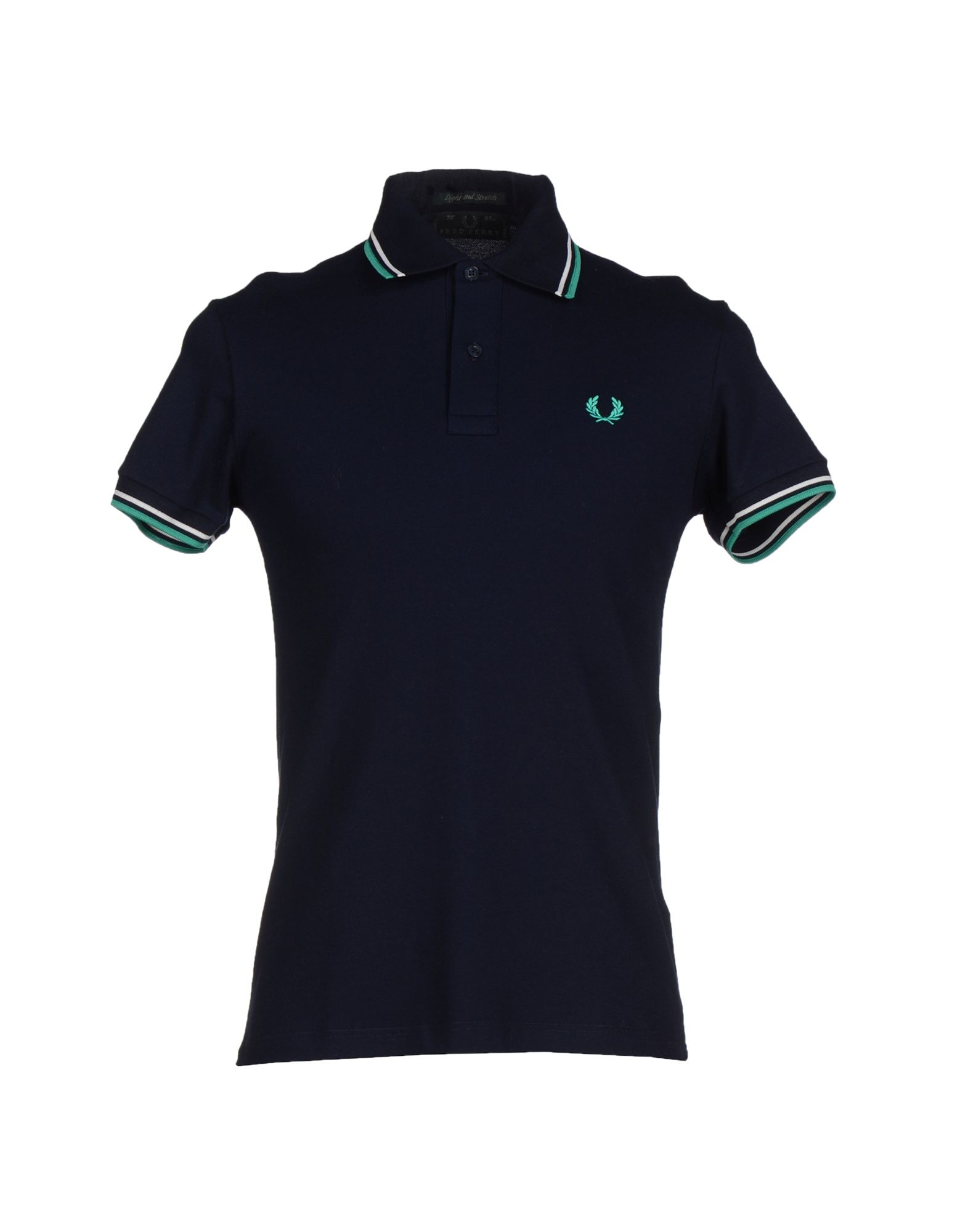fred perry polo shirt in blue for men dark blue lyst. Black Bedroom Furniture Sets. Home Design Ideas