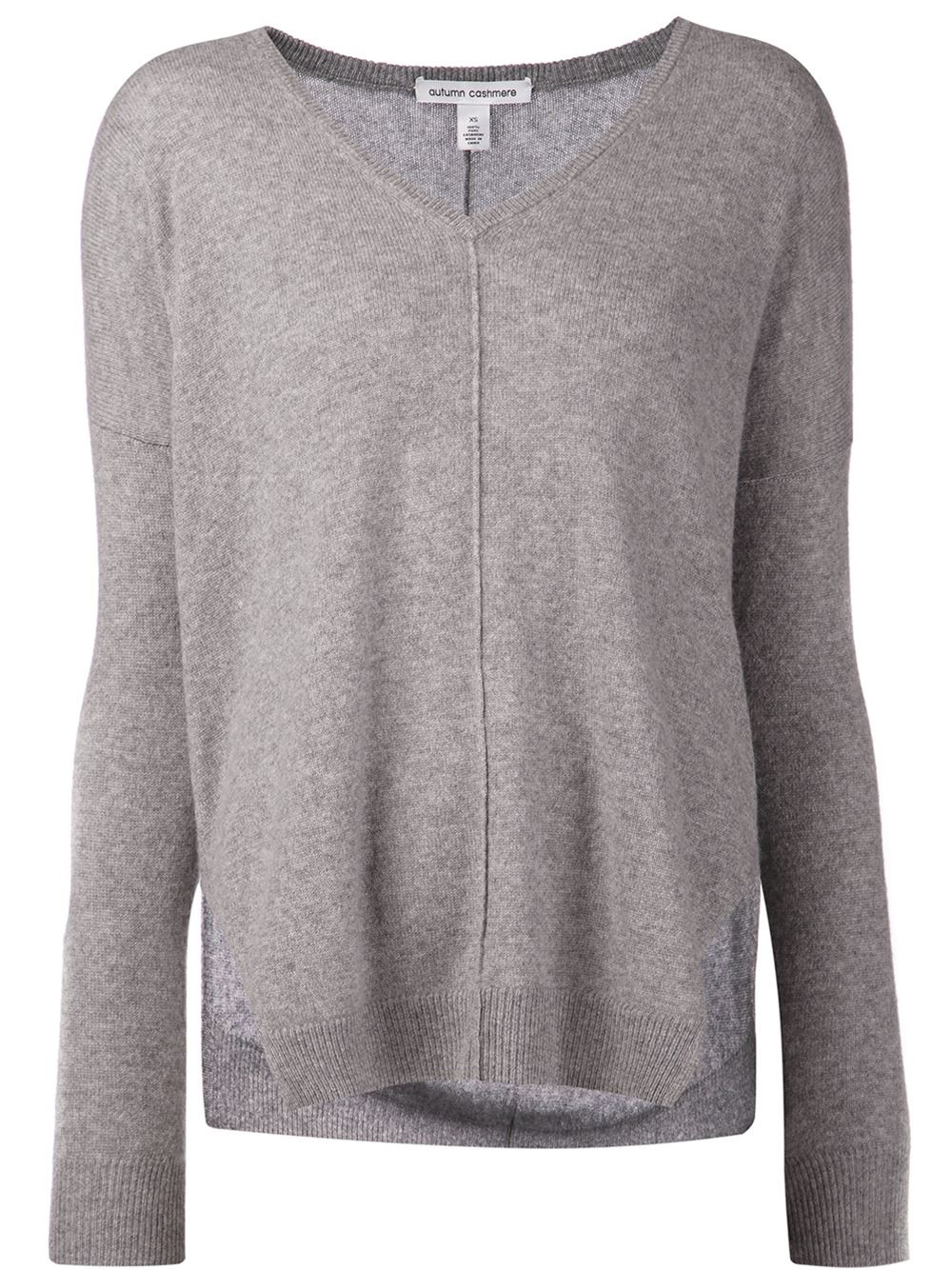 Autumn cashmere Slouchy V-Neck Sweater in Gray | Lyst