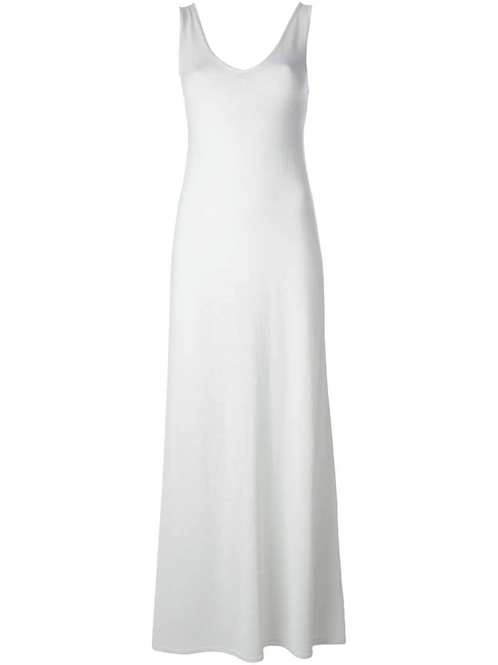 Courreges Long Sleeveless Sweater Dress In White Lyst