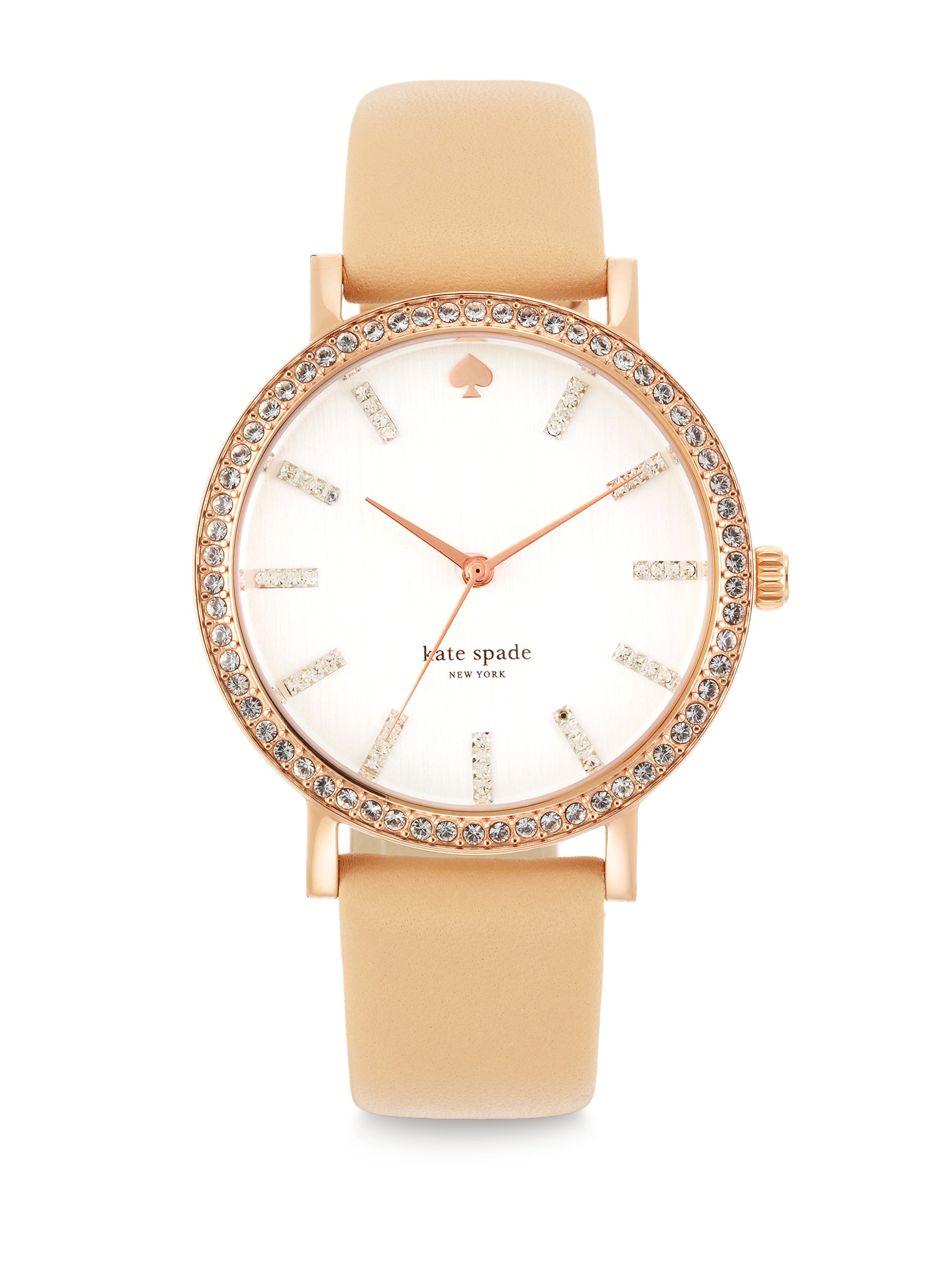 9ab70374011 Kate Spade Metro Grand Pave Rose Goldtone Stainless Steel .