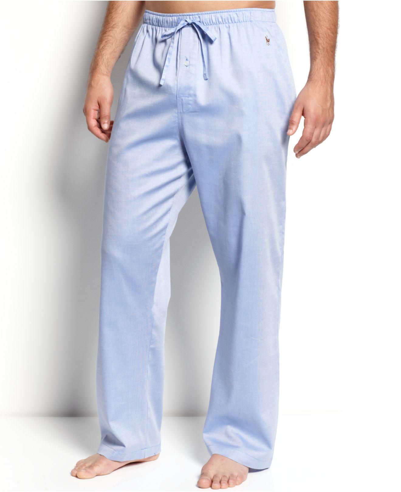 Lyst - Polo Ralph Lauren Men s Woven Oxford Pajama Pants in Gray for Men 31b4813ae