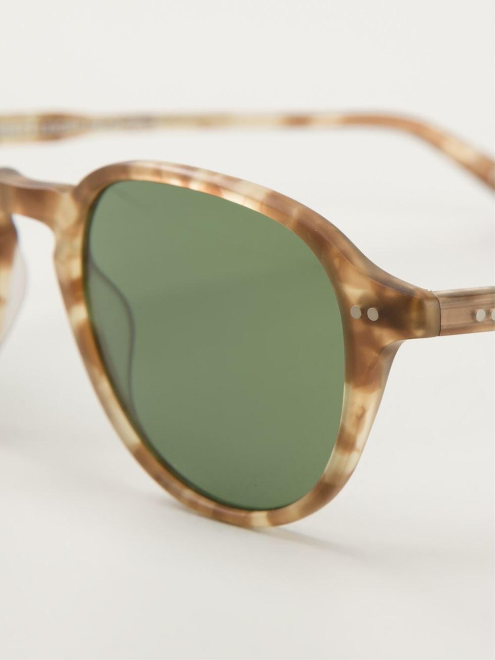 b314e71543 Lyst - Garrett Leight  dewey  Sunglasses in Brown