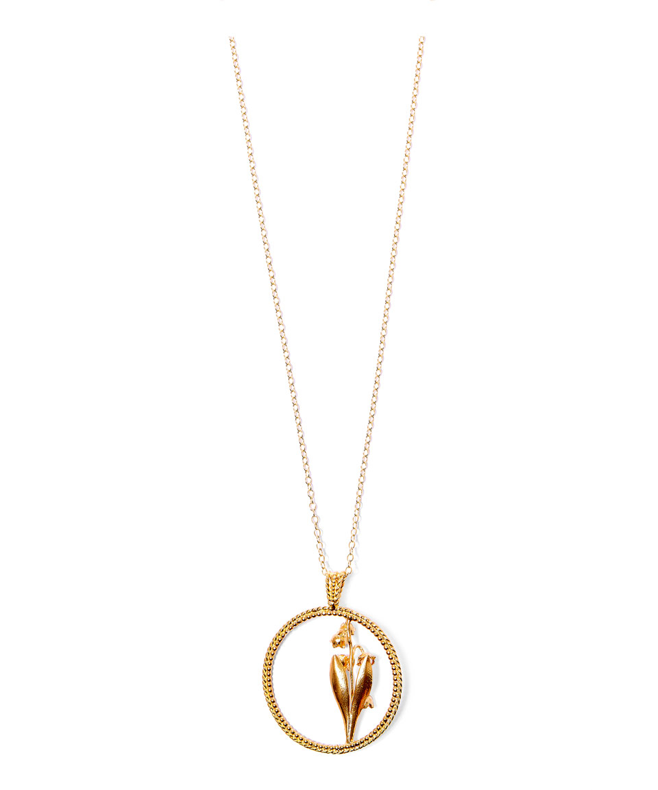 Alex monroe Yellow Gold Large Round Lily Of The Valley ...