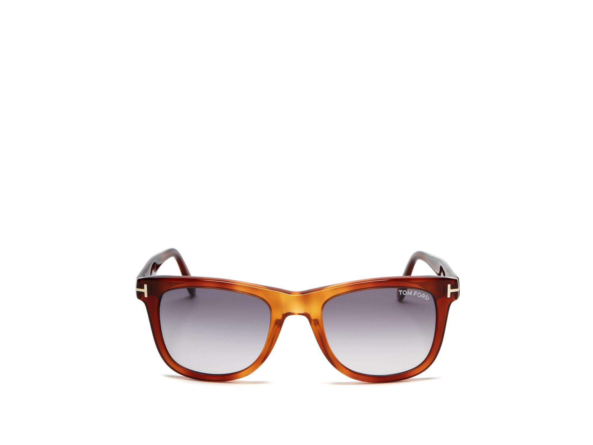 fada50d5d8 Lyst - Tom Ford Leo Wayfarer Sunglasses in Brown for Men