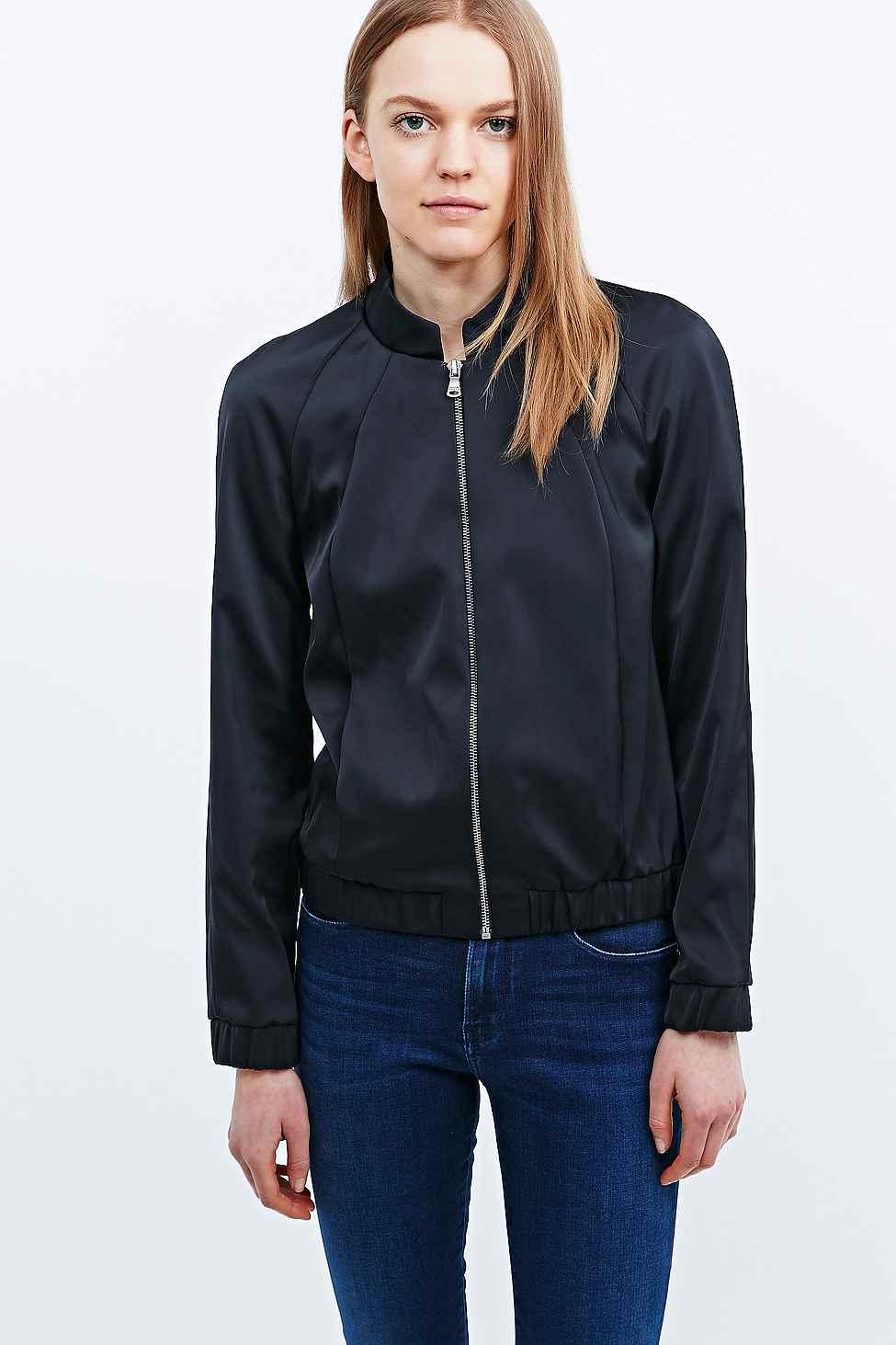 Lyst Calvin Klein Jeans Neoprene Bomber Jacket In Black