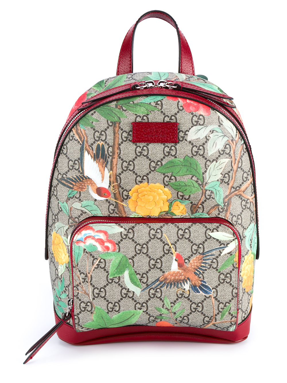 Lyst Gucci Tian Garden Canvas Backpack In Pink