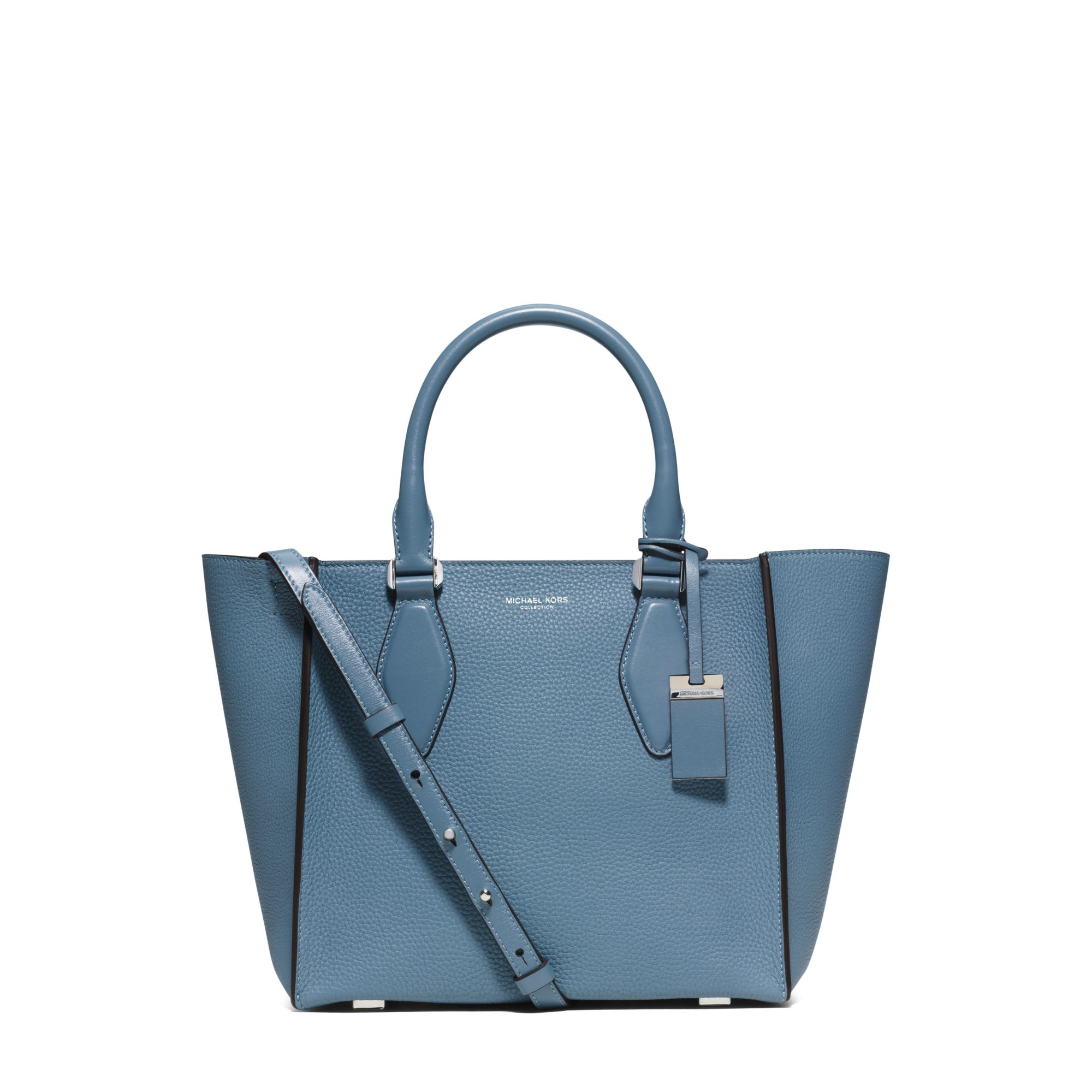 d41390b6dde2 Lyst - Michael Kors Gracie Medium Leather Tote in Blue